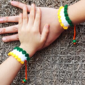 Wrist band in tricolor Independence day