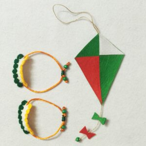 Wrist band and Kite charm in tricolor Independence day
