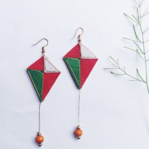 Kite Dangler Earrings in tricolor shades